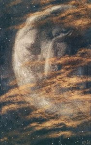 The wear Moon by Edward Robert Hughes