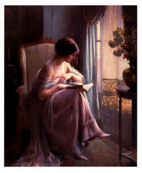 Young-Woman-Reading-by-a-Window-Print-C10315128