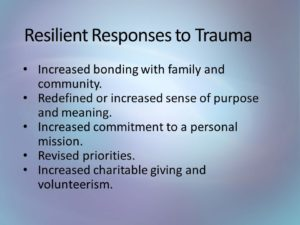 Resilient Responses to Trauma
