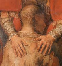 Close of a person being comforted